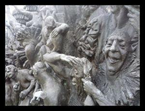 Kennedy center detail sculpture